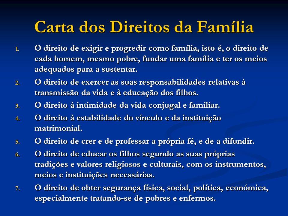 Carta dos Direitos da Família