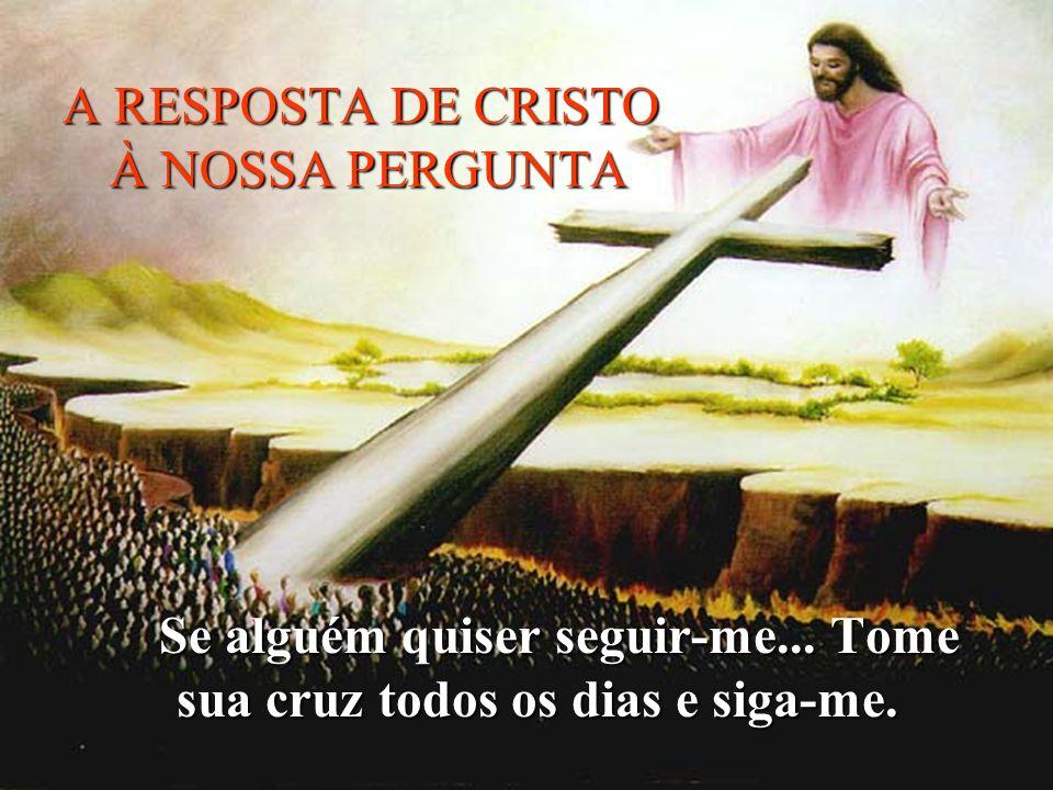 A RESPOSTA DE CRISTO À NOSSA PERGUNTA