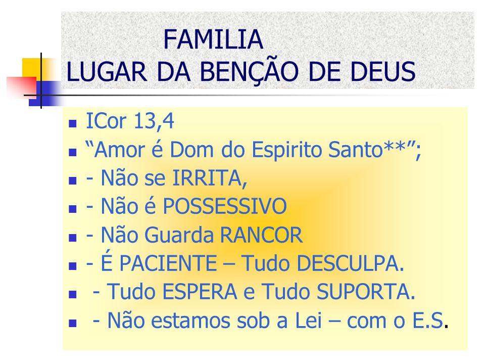 FAMILIA LUGAR DA BENÇÃO DE DEUS