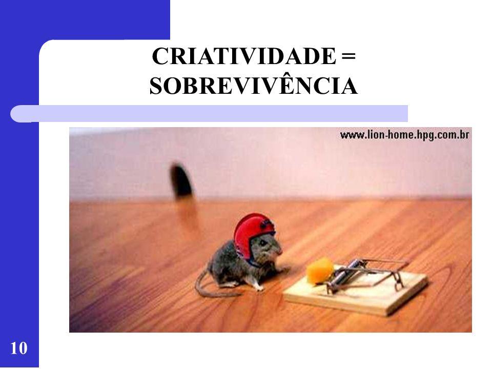 CRIATIVIDADE = SOBREVIVÊNCIA