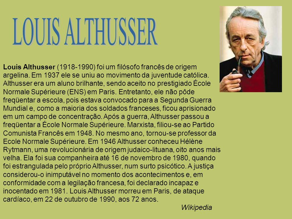 LOUIS ALTHUSSER Wikipedia