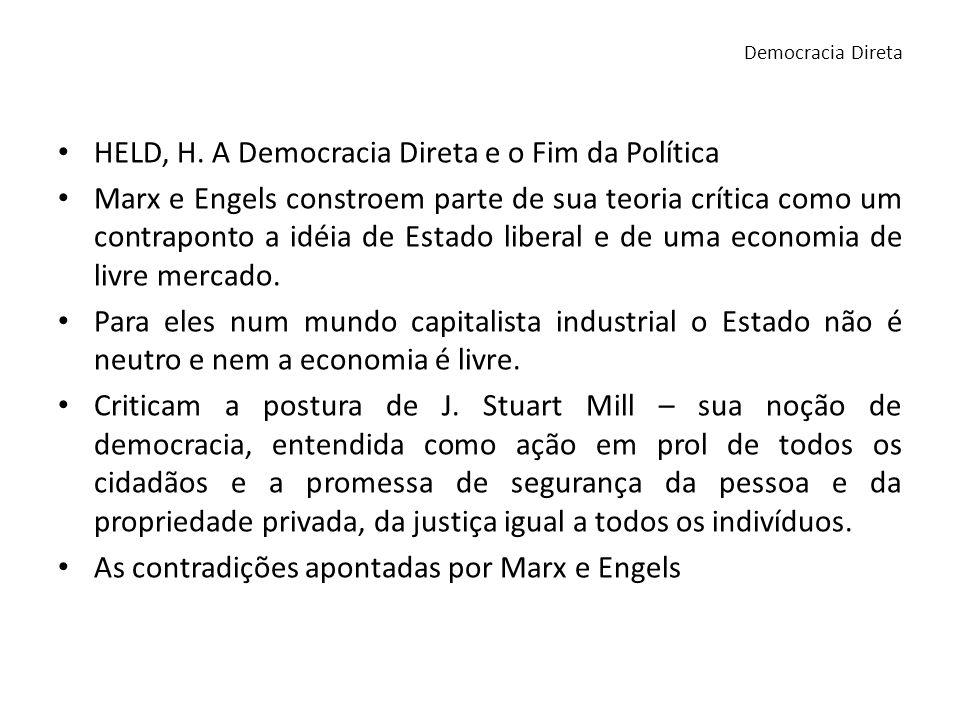 HELD, H. A Democracia Direta e o Fim da Política