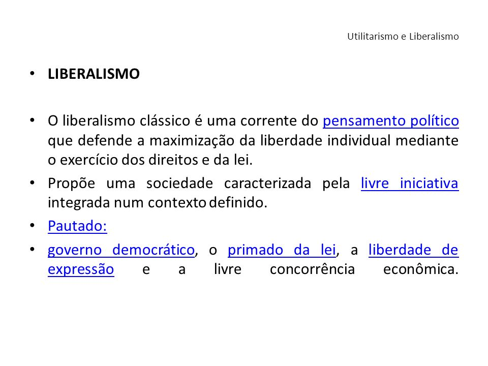 Utilitarismo e Liberalismo