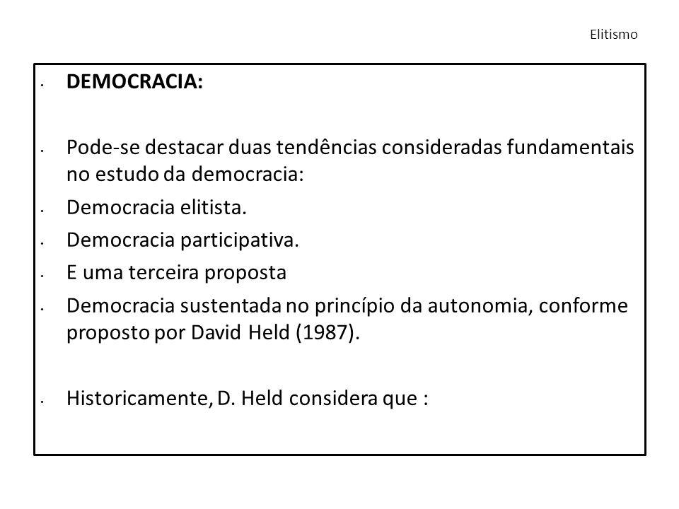 Democracia participativa. E uma terceira proposta