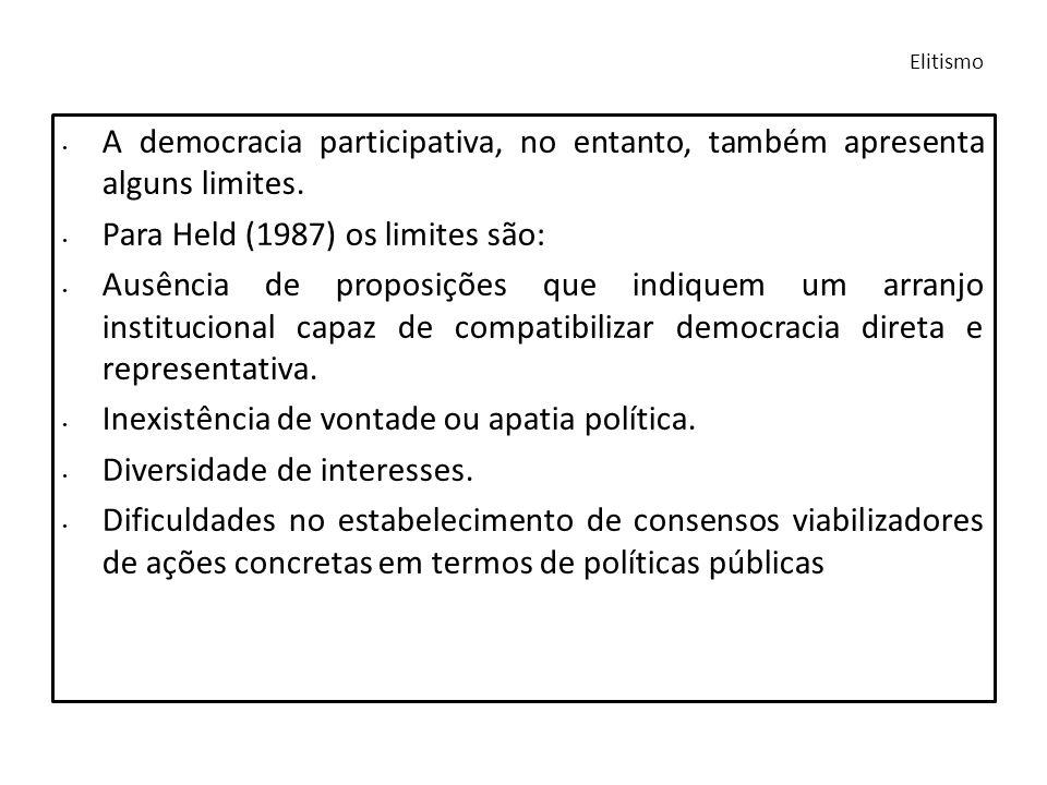 Para Held (1987) os limites são: