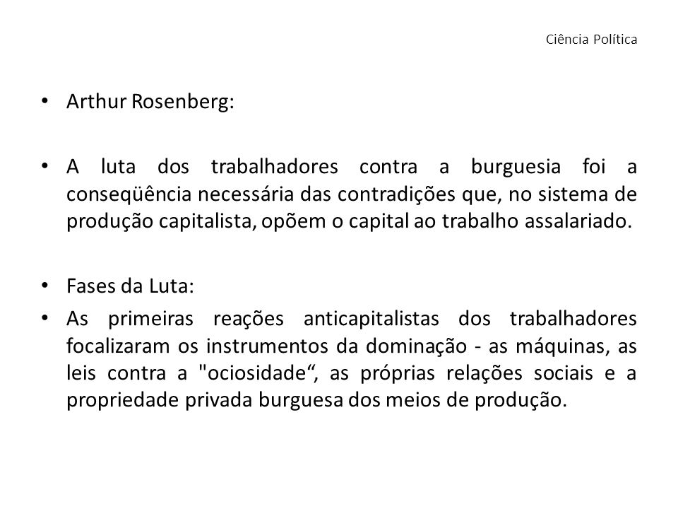 Ciência Política Arthur Rosenberg:
