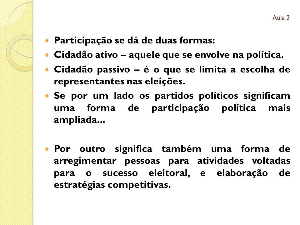 Participação se dá de duas formas: