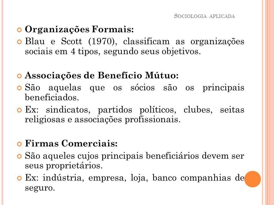 Organizações Formais: