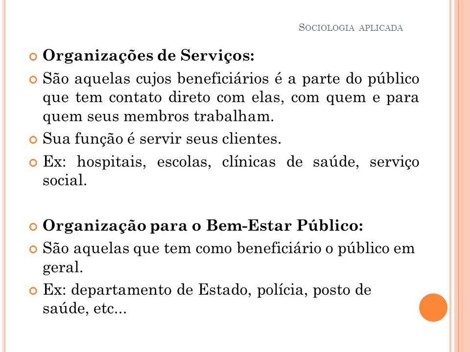 Organizações de Serviços:
