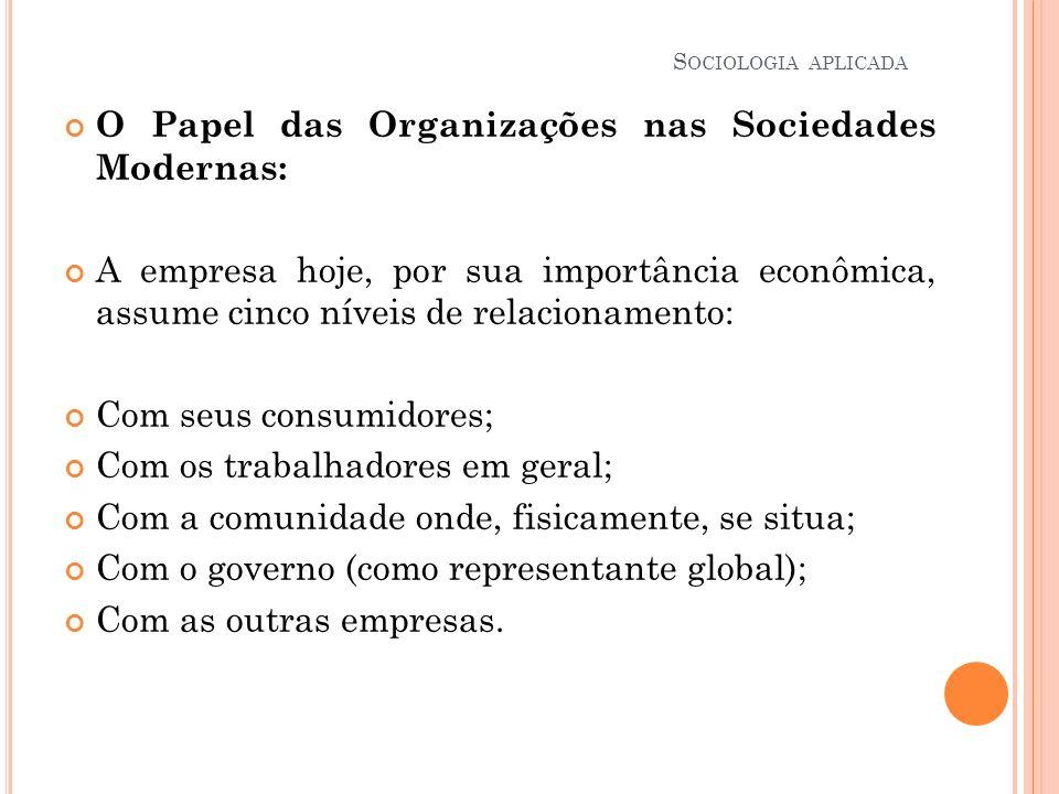 O Papel das Organizações nas Sociedades Modernas: