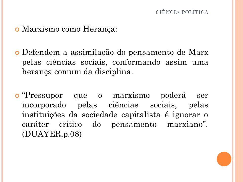 Marxismo como Herança: