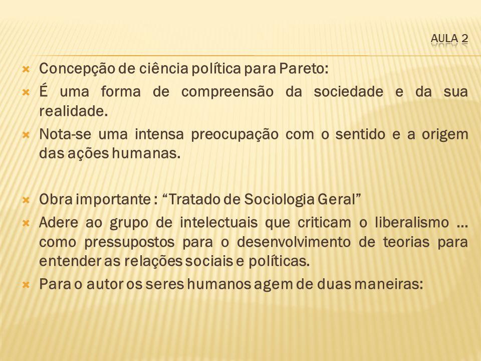 Concepção de ciência política para Pareto: