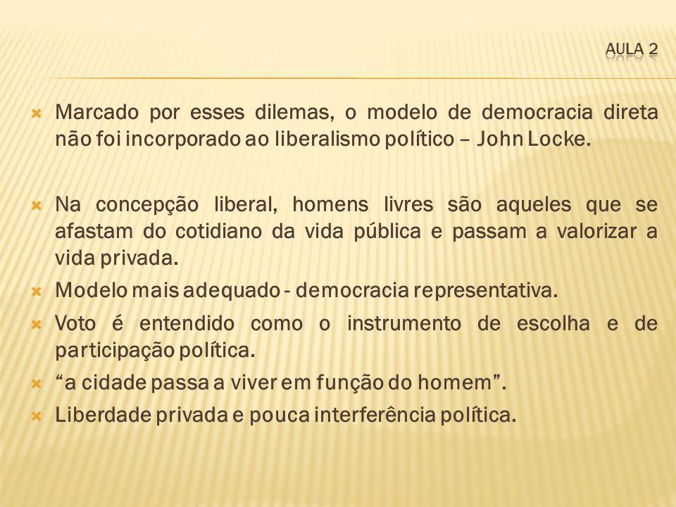 Modelo mais adequado - democracia representativa.