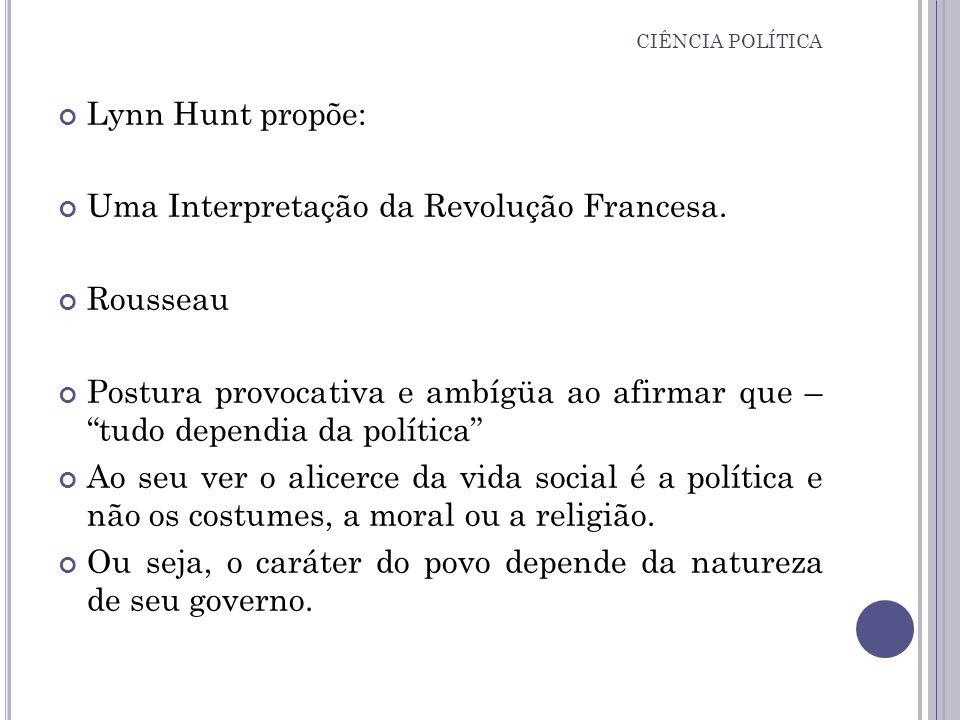 Uma Interpretação da Revolução Francesa. Rousseau