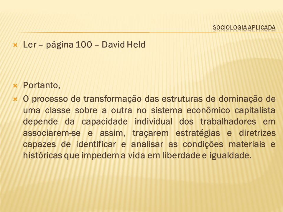 Ler – página 100 – David Held