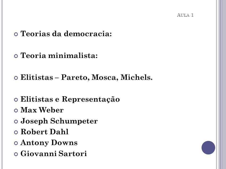 Teorias da democracia: Teoria minimalista: