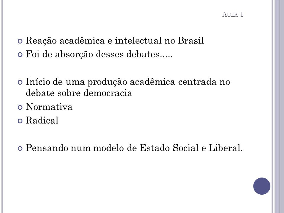 Reação acadêmica e intelectual no Brasil