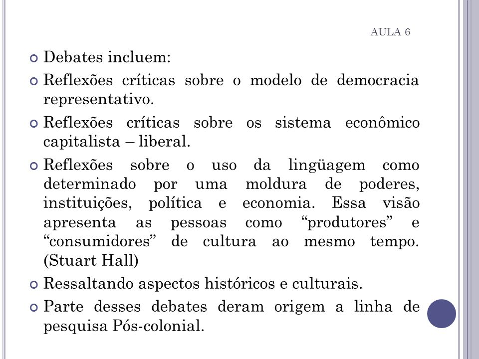 Reflexões críticas sobre o modelo de democracia representativo.