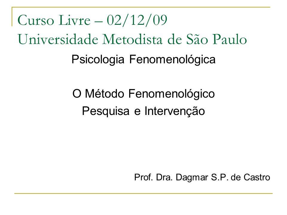 Curso Livre – 02/12/09 Universidade Metodista de São Paulo