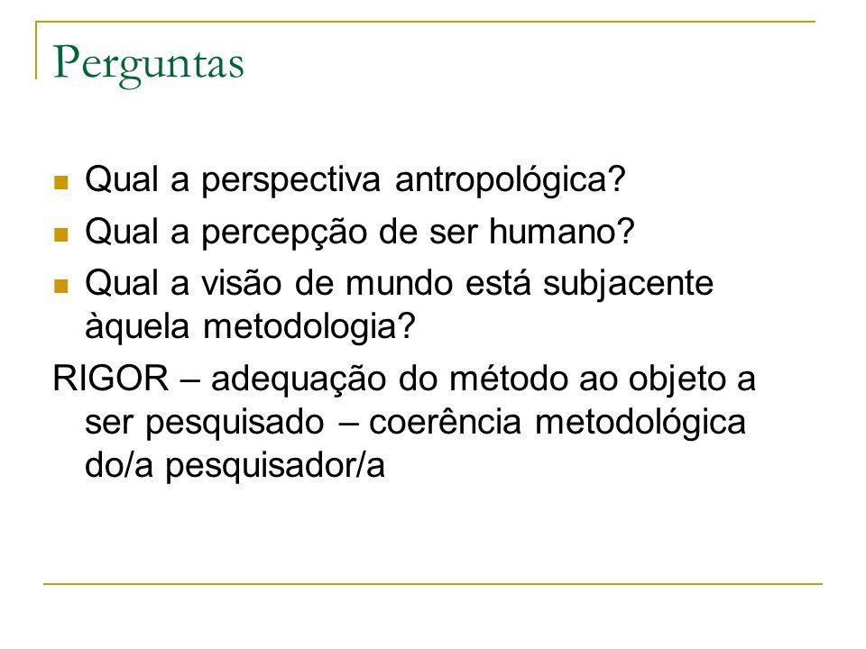 Perguntas Qual a perspectiva antropológica