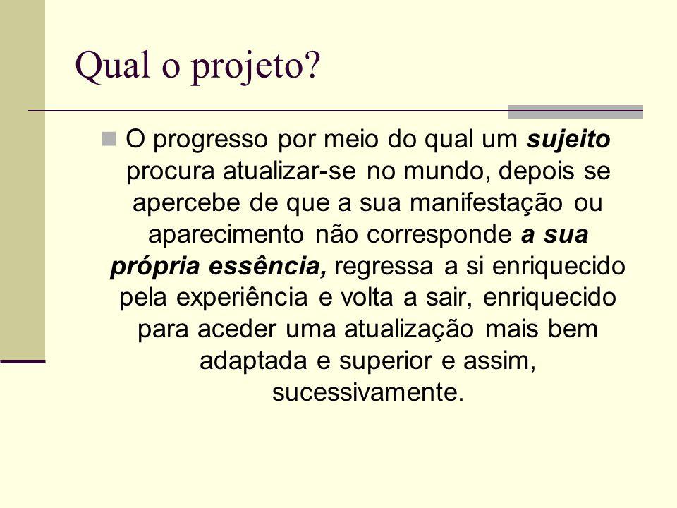 Qual o projeto