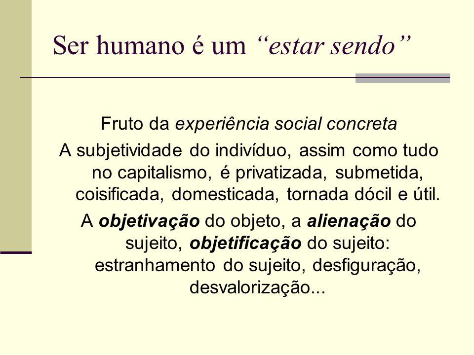 Ser humano é um estar sendo