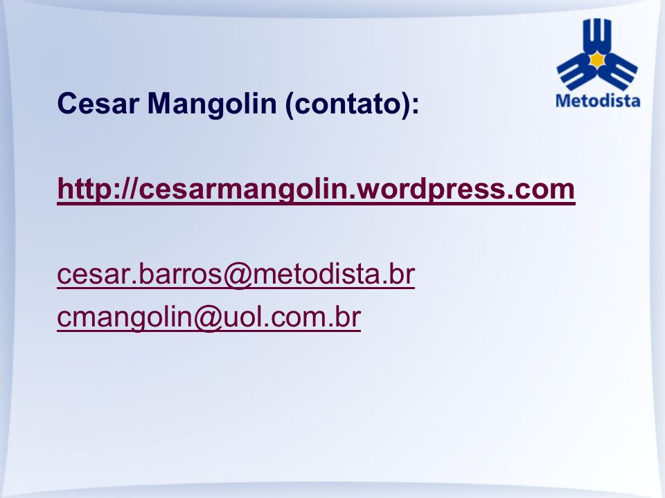 Cesar Mangolin (contato):