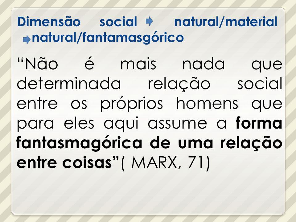 Dimensão social natural/material natural/fantamasgórico