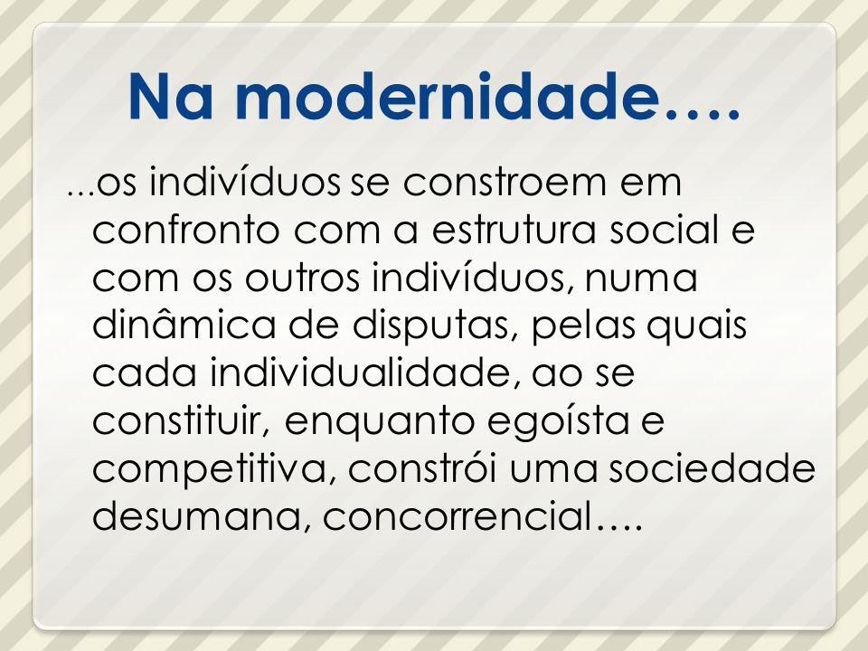 Na modernidade….