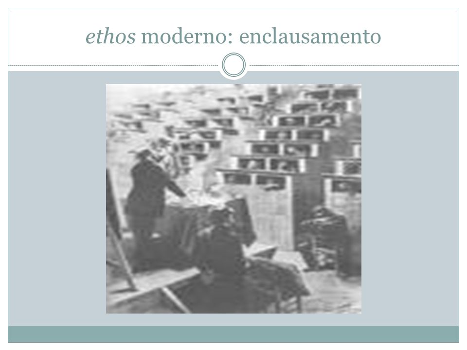 ethos moderno: enclausamento