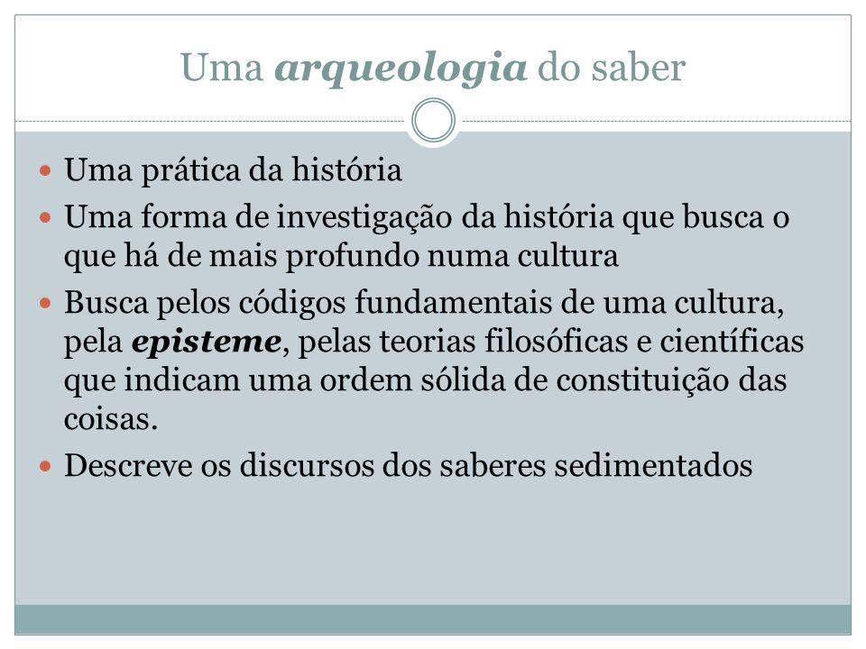 Uma arqueologia do saber