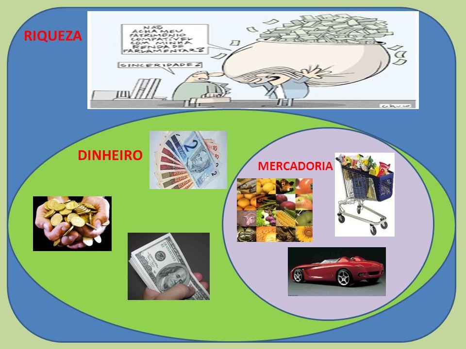 RIQUEZA DINHEIRO MERCADORIA