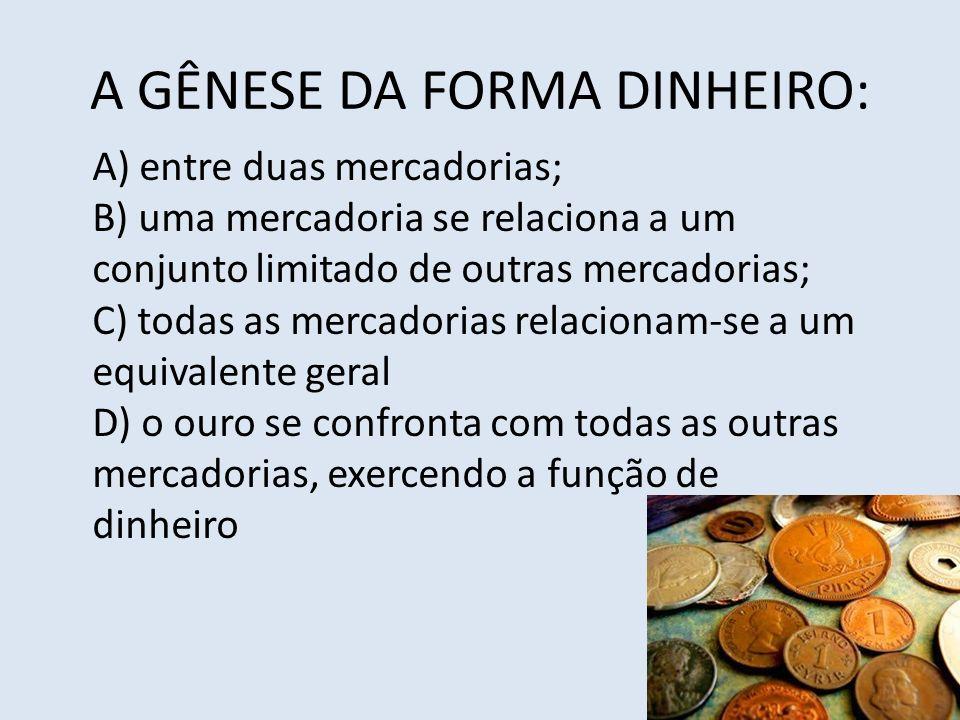 A GÊNESE DA FORMA DINHEIRO: