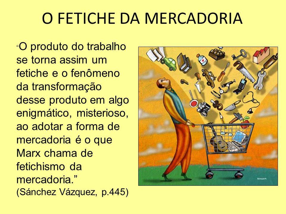 O FETICHE DA MERCADORIA