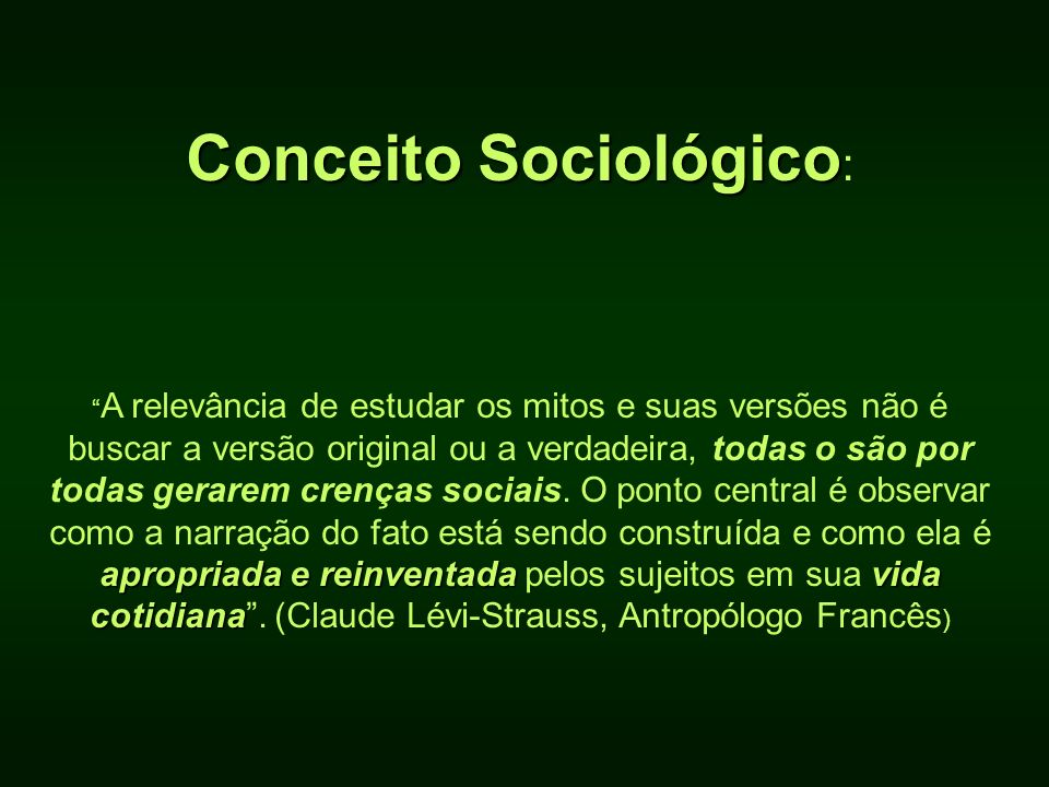 Conceito Sociológico: