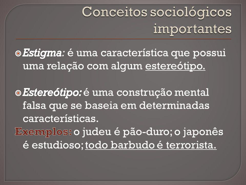 Conceitos sociológicos importantes