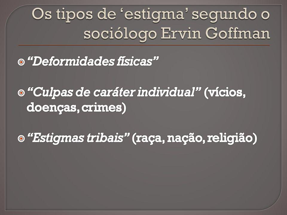 Os tipos de 'estigma' segundo o sociólogo Ervin Goffman