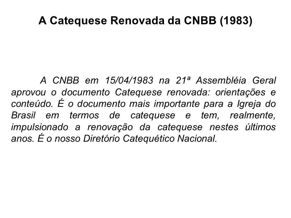 A Catequese Renovada da CNBB (1983)