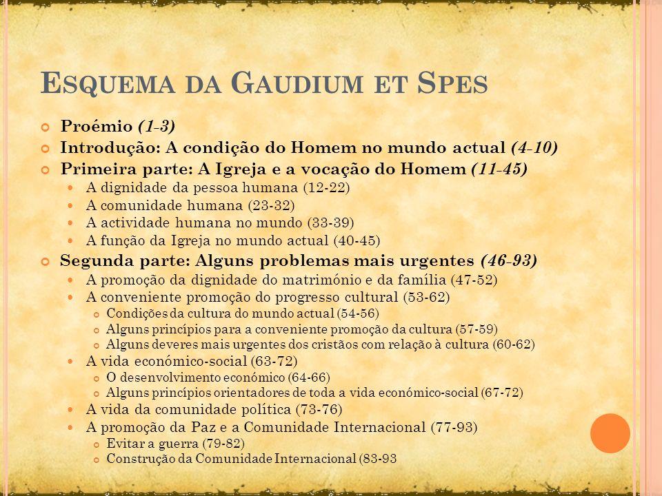Esquema da Gaudium et Spes
