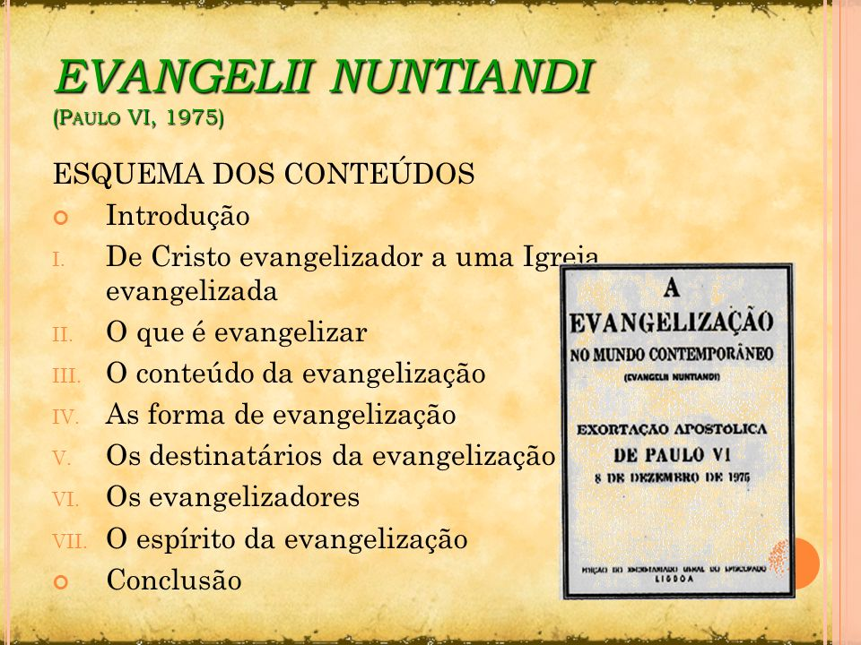 EVANGELII NUNTIANDI (Paulo VI, 1975)