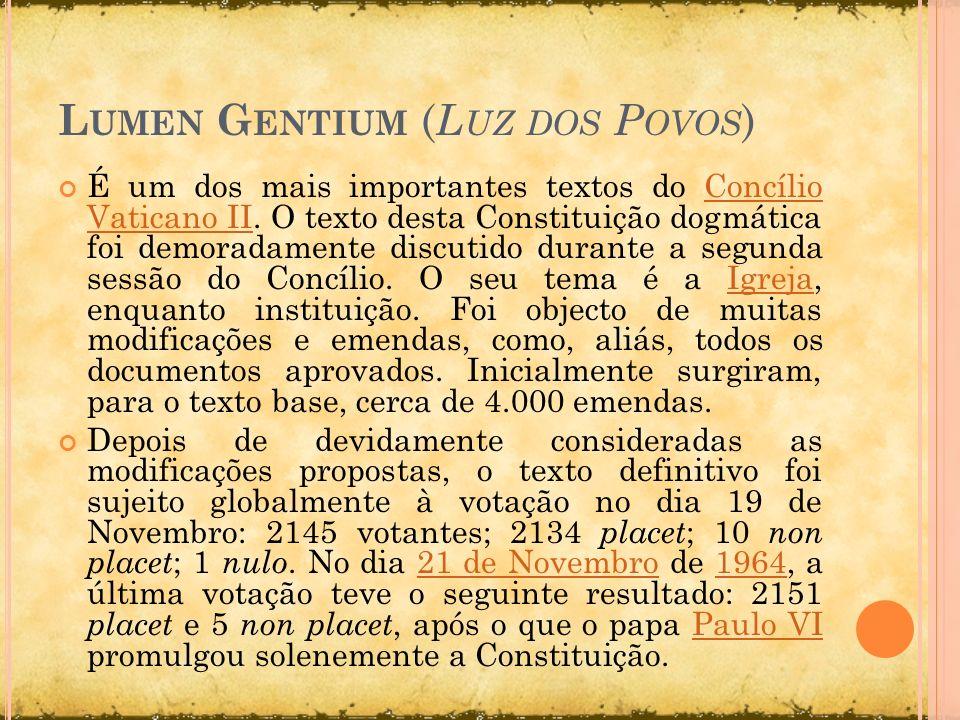 Lumen Gentium (Luz dos Povos)