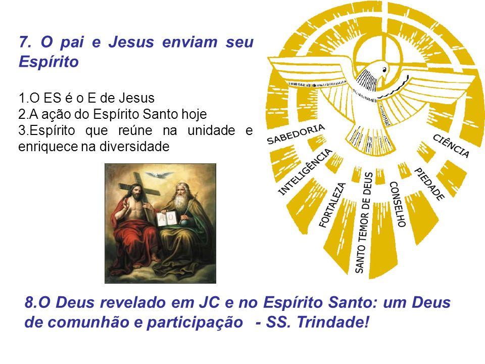 7. O pai e Jesus enviam seu Espírito