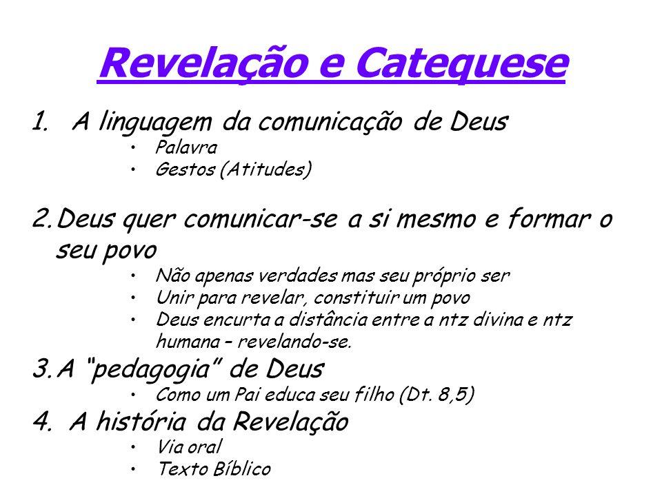 Revelação e Catequese A linguagem da comunicação de Deus