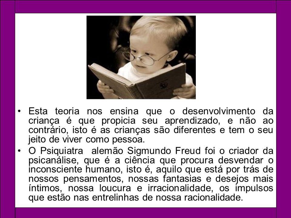 Esta teoria nos ensina que o desenvolvimento da criança é que propicia seu aprendizado, e não ao contrário, isto é as crianças são diferentes e tem o seu jeito de viver como pessoa.