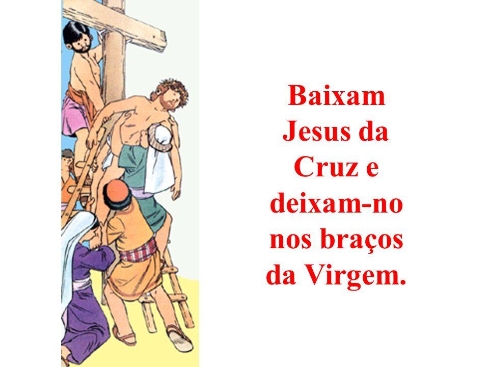 Jesus da Cruz e deixam-no nos braços da Virgem.