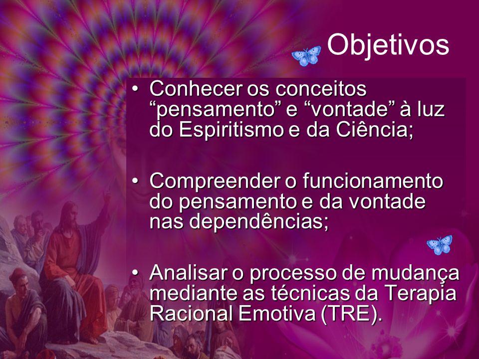 Objetivos Conhecer os conceitos pensamento e vontade à luz do Espiritismo e da Ciência;
