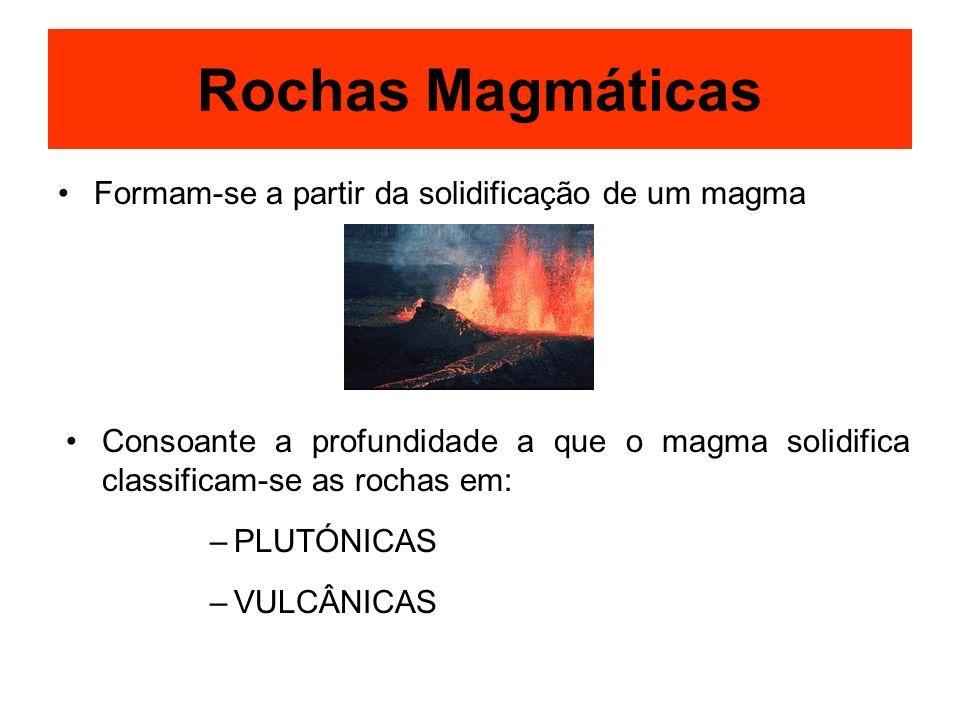 Rochas Magmáticas Formam-se a partir da solidificação de um magma