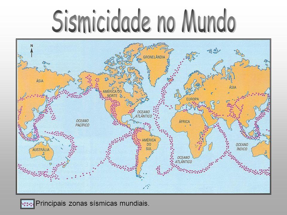 Sismicidade no Mundo Principais zonas sísmicas mundiais.