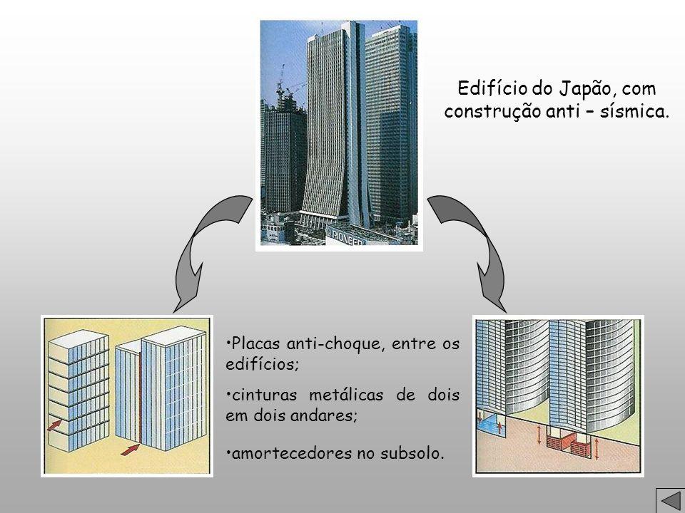 Edifício do Japão, com construção anti – sísmica.