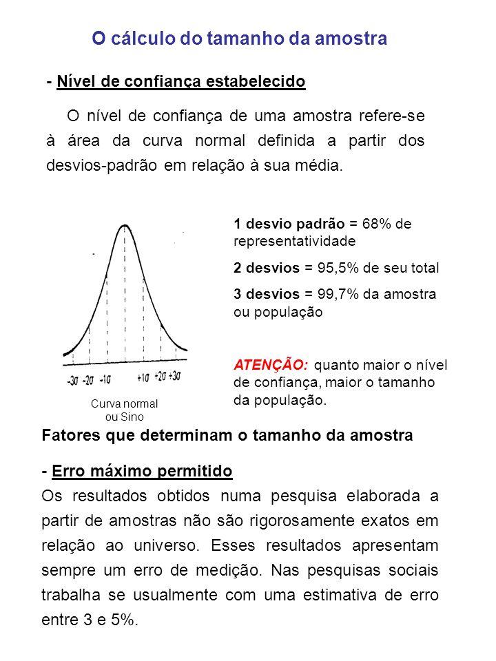 O cálculo do tamanho da amostra